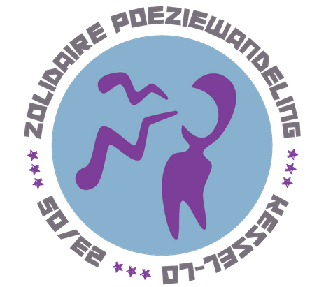 Logo poëziewandeling Kessel-lo door Weik